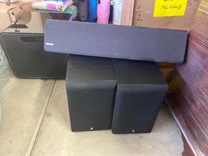 Shelf speakers and subwoofer for Sale in Phoenix, AZ