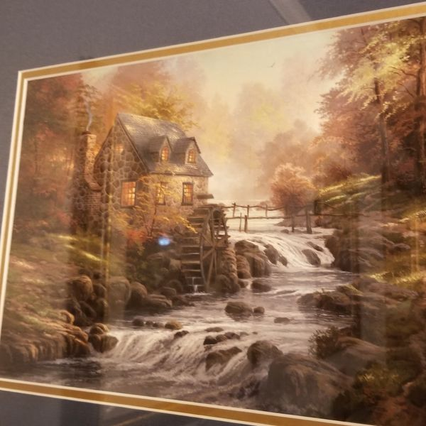 Gold frame picture