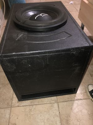 "Fi audio bl 12"" sub with pro box for Sale in Fort Worth, TX"