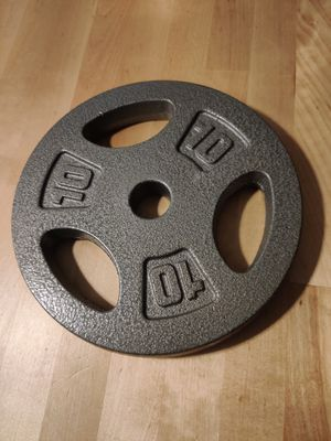 2 Pair of 10lb weights (4 plates) for Sale in NEW CARROLLTN, MD