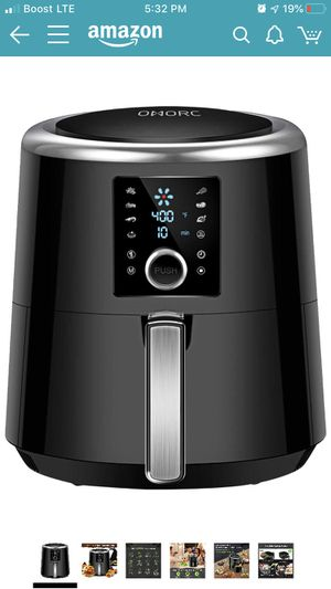 OMORC Air Fryer, 6 Quart, 1800W Fast Large Hot Air Fryers & Oilless Cooker w/Presets, LED Touchscreen(for Wet Finger)/Roast/Bake/Keep Warm, Dishwashe for Sale in Riverside, CA