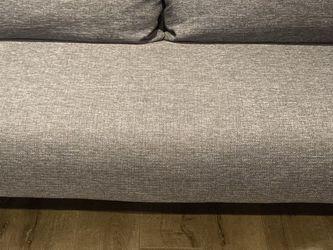 Modern Dark Grey Weave CB2 Sofa for Sale in Coronado,  CA