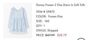 New Size 14-16 Girl Hanna Anderson Elsa Frozen 2 dress for Sale in Fontana, CA