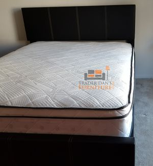 Brand New Full Size Leather Platform Bed + Pillowtop Mattress for Sale in Kensington, MD
