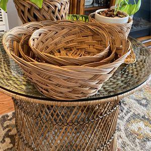Wicker Wall Baskets /shelf Decor /drawer Organizers/makeup/plant Basket /pantry Organizers (B38) for Sale in Lynwood, CA