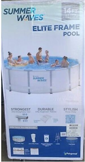 """Summer Waves Elite 14'x42"""" Frame Pool with Filter Pump for Sale in West Valley City, UT"""
