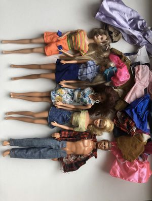 5 vintage Barbies with wardrobe for Sale in Boston, MA