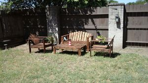 Handmade wooden outdoor patio furniture..read ad for pricing for Sale in San Antonio, TX