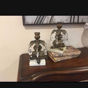 Candle Holders and Clock for Sale in Houston, TX