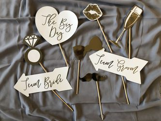 Wedding Photo Booth Props - Set of 8 for Sale in Wilsonville,  OR