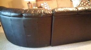 Black leather couch for Sale in Frankfort, KY