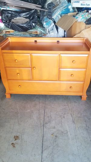 Solid wood baby changing table dresser for Sale in Columbus, OH