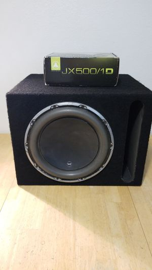 JL AUDIO 12w6v2-d4 12w6v2 12w6 Subwoofer Amp KX500/1D MONO BLOCK for Sale in Ramona, CA