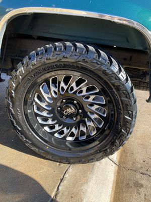 20 inch rims with tires trade for car or truck for Sale in Denver, CO