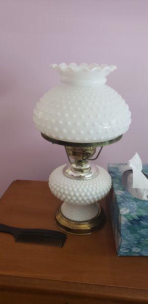 Vintage Hobnail milk glass 3 way lamp for Sale in Parkville, MD