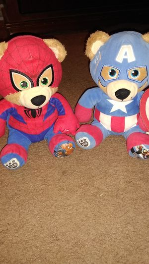 Spiderman 🕷️ and Captain America bears for Sale in Glendale, AZ