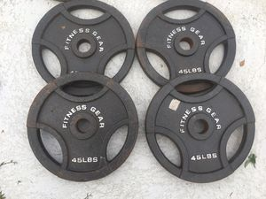 45lb weights $ 1 . 3 0 / LB for Sale in Seffner, FL