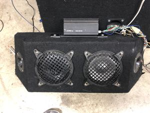 Kenwood 6 1/2 300 watts and Sony 6 1/2 300watts and alpine amp for Sale in Covina, CA