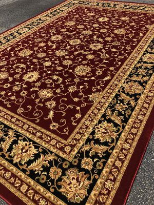 New Turkish rug size 8x11 nice red burgundy carpet Persian style rugs for Sale in Fairfax Station, VA