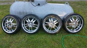 "20"" Rock star rims with new tires for Sale in Equality, AL"