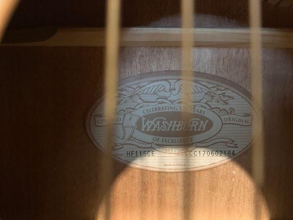 Acoustic Electric Washburn Guitar