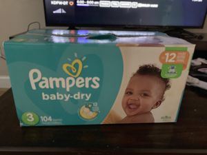 Size 3 Pampers for Sale in Garland, TX