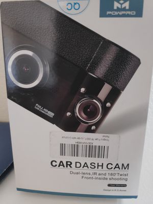 New! Dual Car dash cam camera dual lens for Sale in Las Vegas, NV