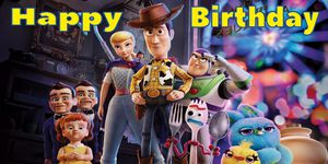 Toy story birthday banner 2ftx4ft for Sale in Montebello, CA