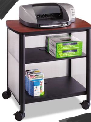 New!! Mobile stand, office cart, office furniture, machine stand, mobile printer stand, black and cherry for Sale in Phoenix, AZ