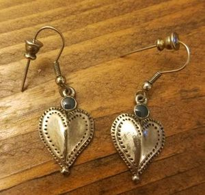 Silver Colored Heart Dangle Earrings for Sale in Westminster, CO