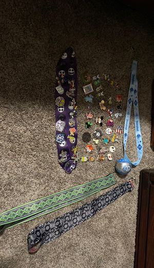 Disney land pins and lanyards for Sale in Ripon, CA
