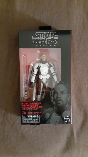 Star wars black series clone commander obi wan mib for Sale in Goodyear, AZ