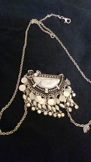 Long chain Silver color necklace for Sale in Anaheim, CA