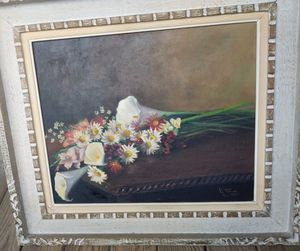 1957 Signed Oil Painting gift to a Rubber Factory GM for Sale in Chicago, IL