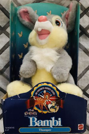 Vintage Disney's Movie Bambi, Thumper Stuffed Animal for Sale in Oswego, IL