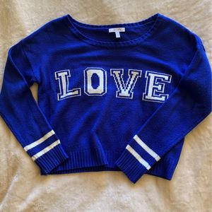 """Vintage Delia's Cropped """"Love"""" Sweater for Sale in Las Vegas, NV"""