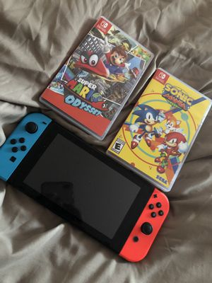 Nintendo switch with two games for Sale in Westlake, OH