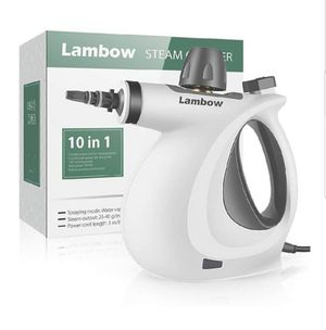 Lambow Handheld Pressurized 9 in 1 Steamer Steam Cleaner with 9-Piece Accessory Set for Bathroom, Kitchen, Surfaces, Carpe for Sale in Bakersfield, CA
