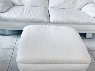 Living Room Furniture. Beautiful All Leather SOFA with matching OTTOMAN for Sale in Miami,  FL