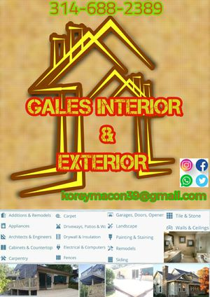 Interior and exterior contracting work for Sale in St. Louis, MO