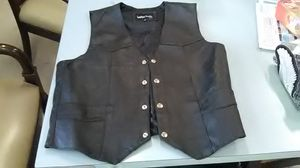 Brand New leather vest without tags sz M / 42 soft leather vest by Leather Works w/Harley Davidson Patch for Sale in Washington, PA