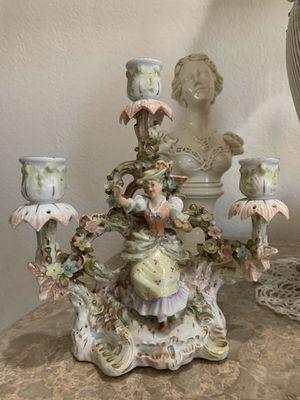 Antique 1800s German Porcelain Sitzendorf Candelabra for Sale in Fort Lauderdale, FL