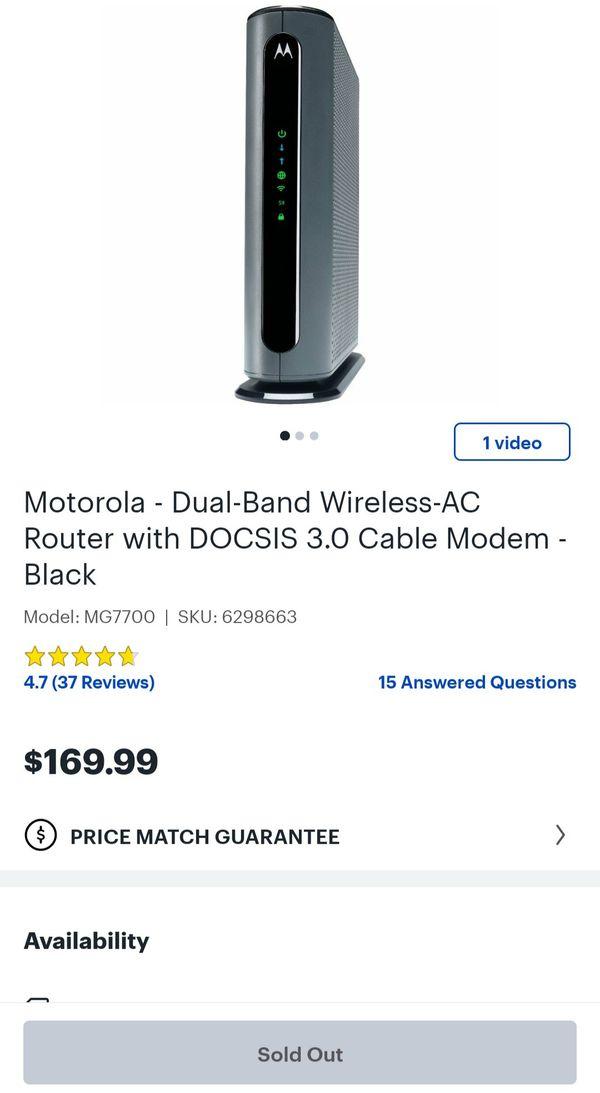Motorola Dual Band Router/Modem DOCSIS 3.0