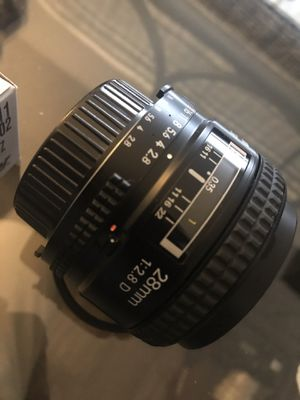 nikon AF nikkor 28mm f2.8 D auto focus lens can also be used manual. Prime lens for Sale in Whittier, CA