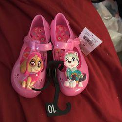 Little Girls Paw Patrol Jellied Flats Size 10 for Sale in Camden,  AL