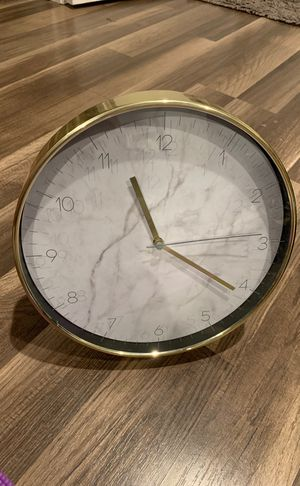 Gold Marble Accent Clock for Sale in Covina, CA