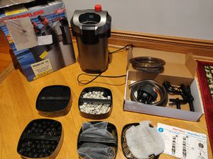 Like new Marineland 220 Canister Filter for fish tank aquarium for 55gallon for Sale in Chicago, IL