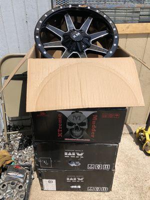 "New 20"" black Xtreme Mudder Rims 20 XM off road Wheels 20s Rines Negros Super Duty F250 F350 Ford F150 , Chevy Silverado, GMC Sierra , Toyota Tacoma for Sale in Dallas, TX"