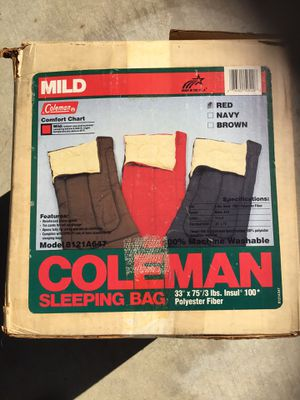 Coleman Sleeping Bag for Sale in Montclair, CA