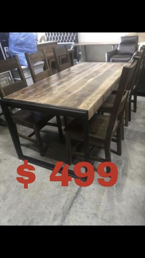 Beautiful new 7 piece dining table set (6 chairs & 1 table) only 599$!!! Original price 1,749$!!! for Sale in San Leandro, CA